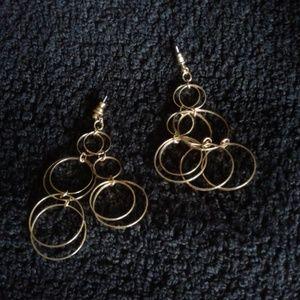 "Jewelry - *Vintage* 3"" Whimsical earrings"
